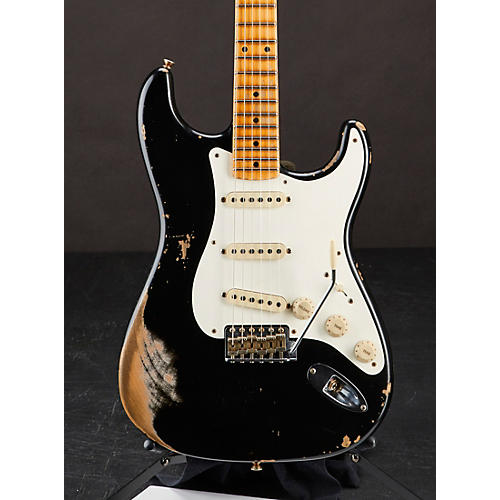 Fender Custom Shop 1956 Stratocaster Heavy Relic Electric Guitar Aged Black