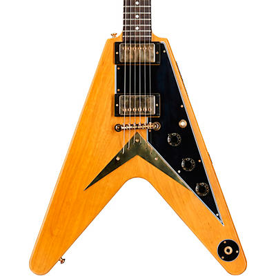 Gibson Custom 1958 Korina Flying V Black Pickguard Electric Guitar