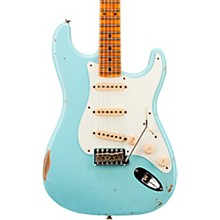 1958 Relic Stratocaster Electric Guitar Super Faded Aged Daphne Blue