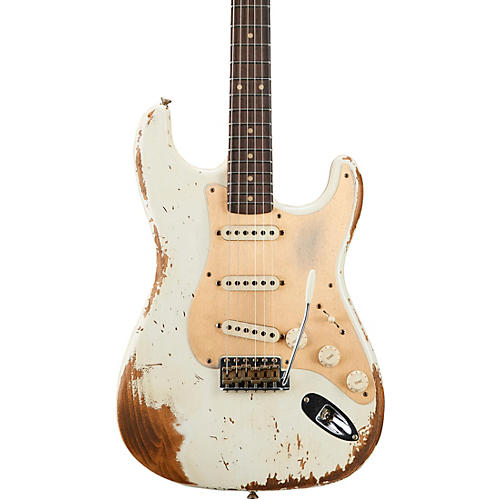 Fender Custom Shop 1959 Heavy Relic Stratocaster Limited Edition Electric Guitar Aged Olympic White