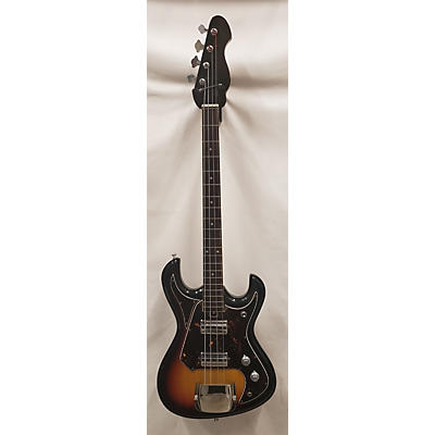 Silvertone 1960s 1490 2 PU MU Electric Bass Guitar