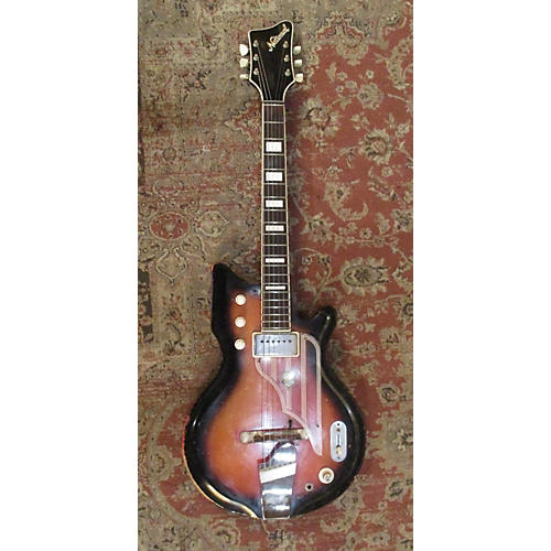 National 1960s BRENTWOOD Hollow Body Electric Guitar Red