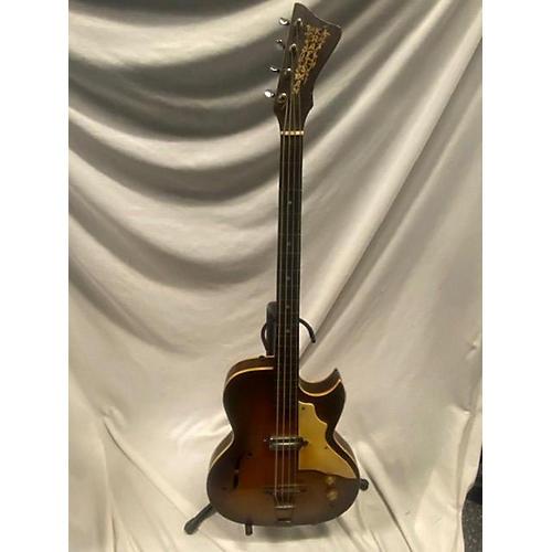 Old Kraftsman 1960s HOLLOWBODY BASS Electric Bass Guitar 2 Color Sunburst