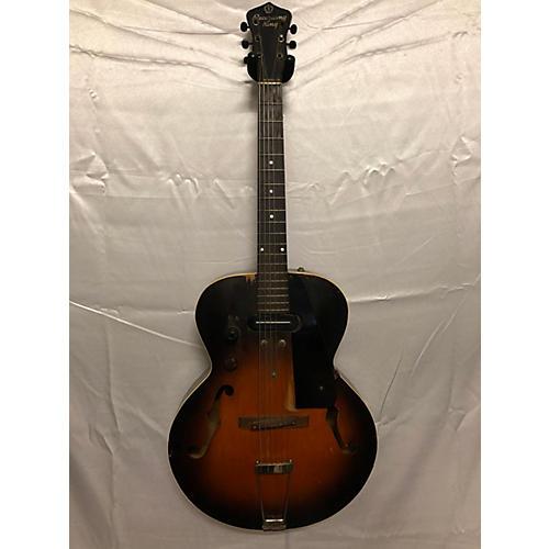 Recording King 1961 Model A Acoustic Electric Guitar 2 Tone Sunburst