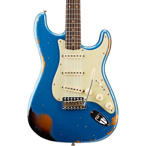Fender Custom Shop 1962 Heavy Relic Stratocaster Electric Guitar Lake Placid Blue over 3-Color Sunburst