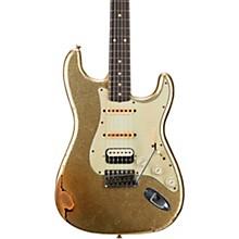 1962 Heavy Relic Stratocaster HSS Rosewood Fingerboard Masterbuilt by John Cruz Green Sparkle over 2-Color Sunburst