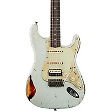 1962 Heavy Relic Stratocaster HSS Rosewood Fingerboard Masterbuilt by John Cruz Sonic Blue over 3-Color Sunburst