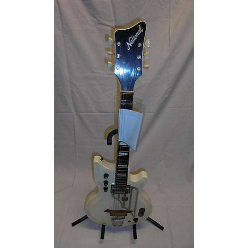 National 1962 Val Pro 84 Solid Body Electric Guitar aged white