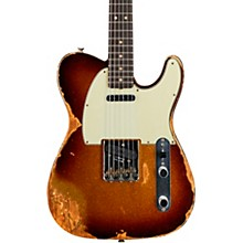 1963 Heavy Relic Telecaster Custom Built Electric Guitar Super Faded Aged 3 Color Sunburst Sparkle