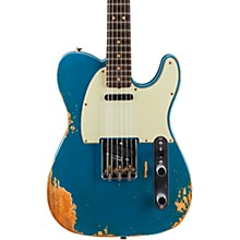 1963 Heavy Relic Telecaster Custom Built Electric Guitar Super Faded Aged Lake Placid Blue