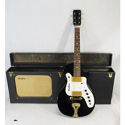 Airline 1964 7214 AMP IN CASE Solid Body Electric Guitar