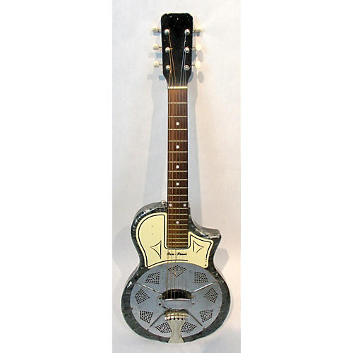 National 1964 Reso-phonic Acoustic Electric Guitar Silver