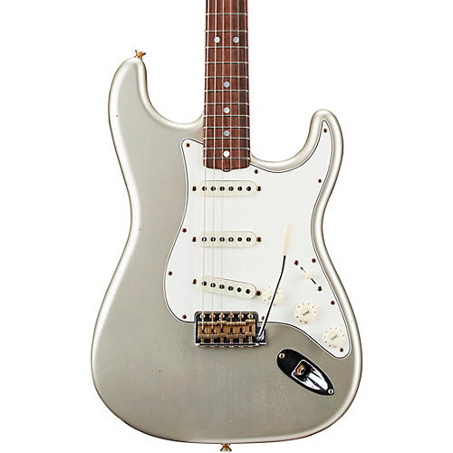 Fender Custom Shop 1964 Stratocaster Journeyman Relic NAMM Limited-Edition Electric Guitar Faded Aged Inca Silver