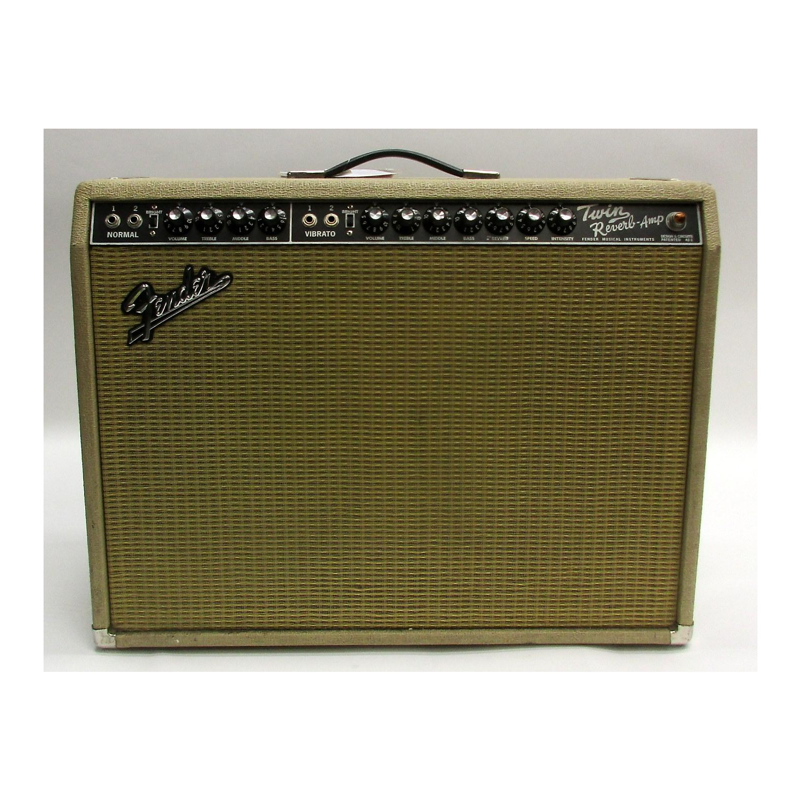Fender 1965 Reissue Twin Reverb 85W 2x12 LIMITED EDITION BLONDE TOLEX Tube Guitar Combo Amp