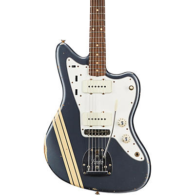 Fender Custom Shop 1966 Jazzmaster Relic Matching Headcap with Competition Stripes Electric Guitar