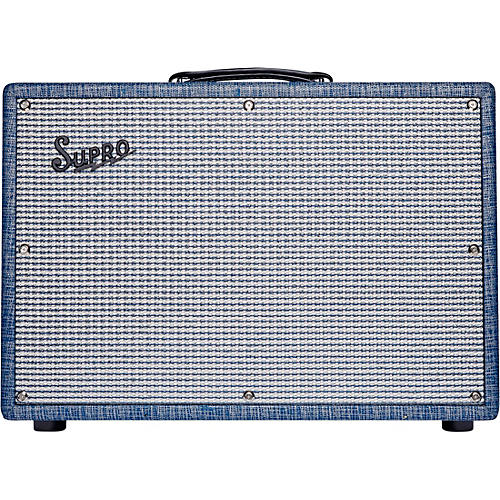 Supro 1968RK Keeley 12 25W 1x12 Tube Guitar Combo Amp Condition 1 - Mint Blue