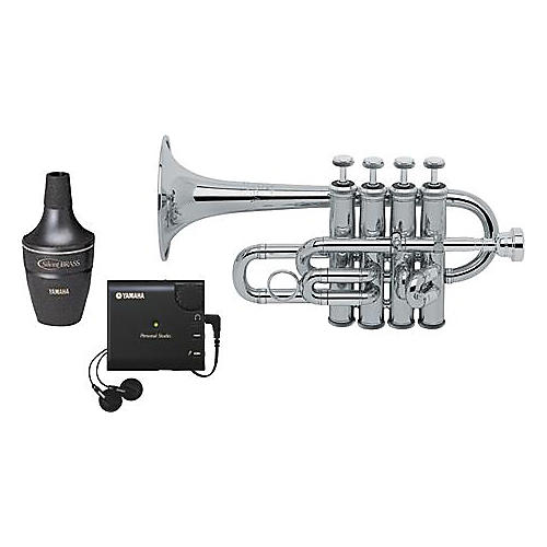 Bach 196S Stradivarius Piccolo Trumpet with Yamaha Silent Brass Package