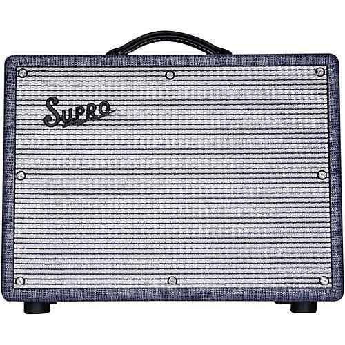 Supro 1970RK Keeley Custom 25W Tube Guitar Combo Amplifier Blue