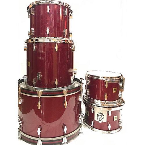 Fibes 1970s Encore Drum Kit Red Sparkle