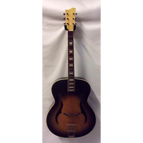 Klira 1970s Semi Hollow Body Acoustic Guitar Tobacco Burst