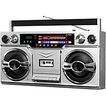 Open BoxVictrola 1980's Bluetooth Boombox with Cassette Player and AM/FM Radio