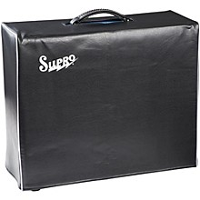 Supro 1x15 Black Vinyl Amp Cover with Logo