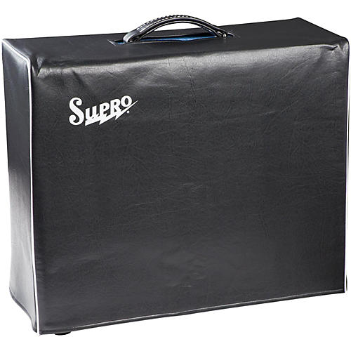 Supro 1x15 Black Vinyl Amp Cover with Logo