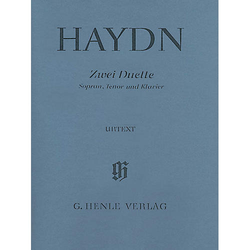 G. Henle Verlag 2 Duets for Soprano, Tenor and Piano Hob.XXVa:2 and 1 Henle Music Softcover by Haydn Edited by Helms