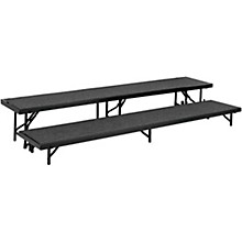 "National Public Seating 2 Level Straight Standing Choral Riser (18""x96"")"