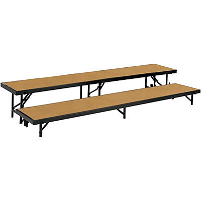 """National Public Seating 2 Level Straight Standing Choral Riser (18""""x96"""")"""
