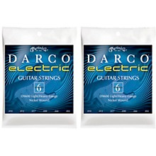 Darco 2 Pack D9600 Light/Heavy Gauge Nickel Wound 6 Set Electric Guitar Strings Bundle