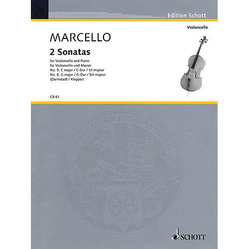 Schott 2 Sonatas: No. 5 in G Major and No. 6 in C Major (for Violoncello and Piano) Schott Series