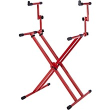 Open Box Gator 2-Tier X-Style Keyboard Stand - Nord Red