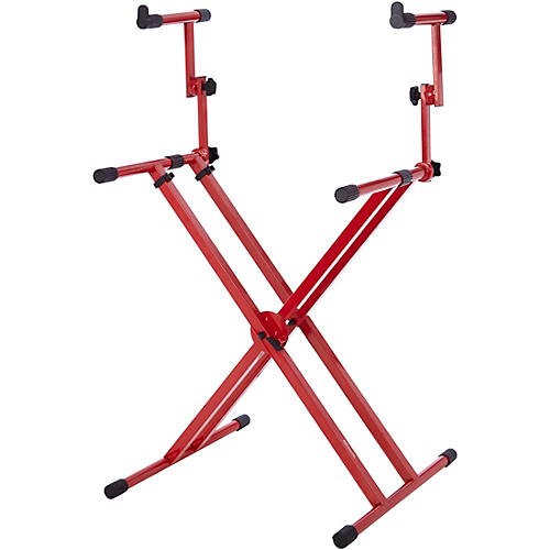 Gator 2-Tier X-Style Keyboard Stand - Nord Red