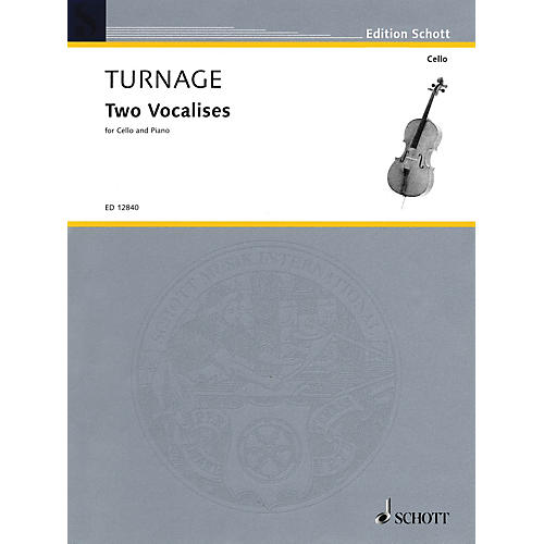 Schott 2 Vocalises (2000-2001) (Violoncello and Piano) Schott Series
