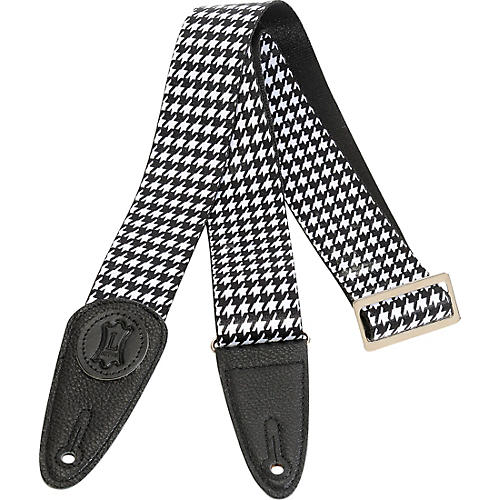 Levy's 2 in. Sublimation Houndstooth Guitar Strap Black 2 in.