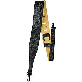 perri 39 s 2 5 tooled western flower embossed leather banjo strap with swivel hooks musician 39 s. Black Bedroom Furniture Sets. Home Design Ideas