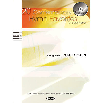Word Music 20 Contemporary Hymn Favorites for Solo Piano Sacred Folio Series Softcover with CD