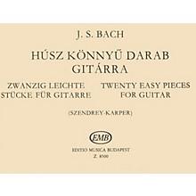 Editio Musica Budapest 20 Easy Pieces (Guitar Solo) EMB Series Composed by Johan Sebastian Bach