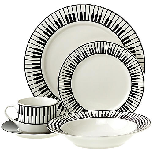 AIM 20-Piece Dinnerware Set with Keyboard Design  sc 1 st  Musicianu0027s Friend & AIM 20-Piece Dinnerware Set with Keyboard Design | Musicianu0027s Friend