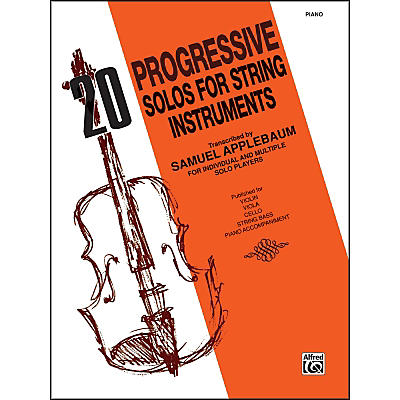 Alfred 20 Progressive Solos for String Instruments Piano Acc.