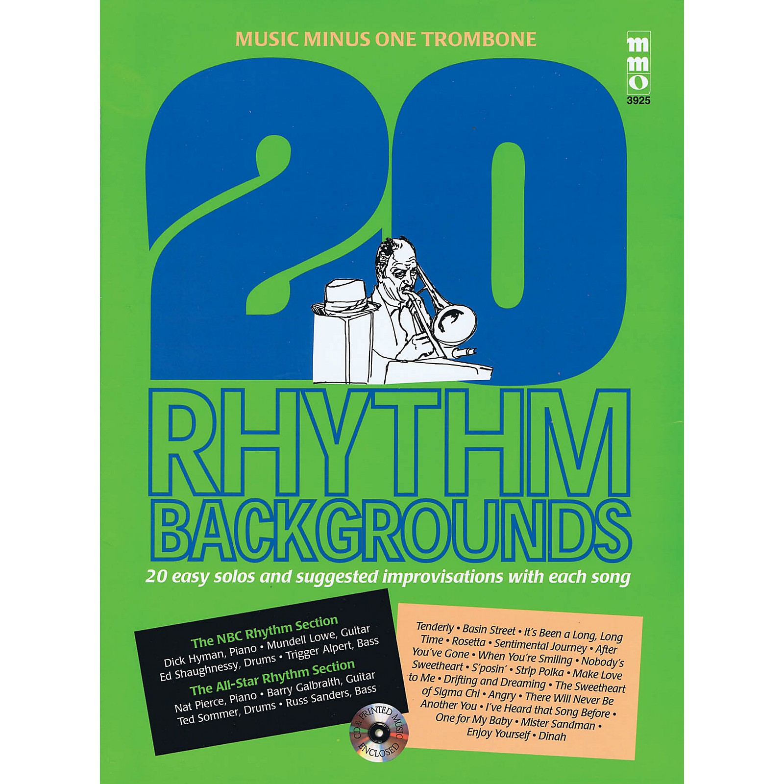 Music Minus One 20 Rhythm Backgrounds (Music Minus One Trombone) Music Minus One Series Softcover with CD