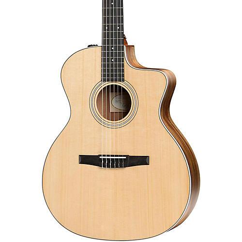 taylor 200 series 2017 214ce n grand auditorium nylon string acoustic electric guitar musician. Black Bedroom Furniture Sets. Home Design Ideas