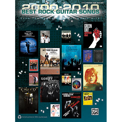 Alfred 2000-2010 Best Rock Guitar Songs Book