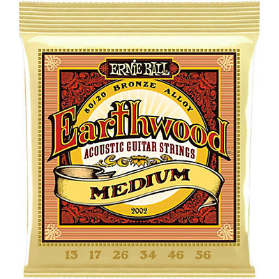 Ernie Ball 2002 Earthwood 80/20 Bronze Medium Acoustic Guitar Strings