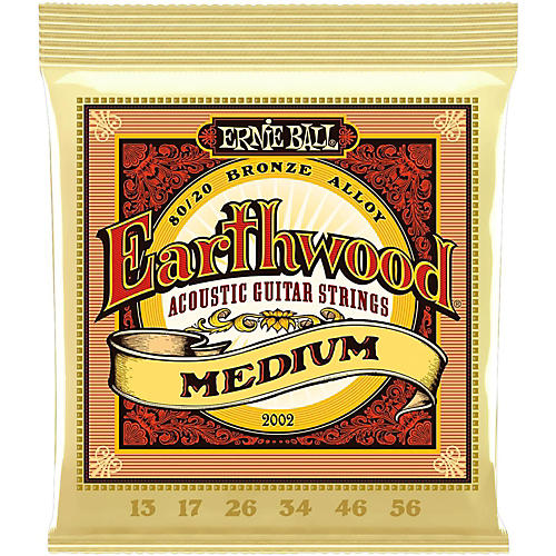 Ernie Ball 2002 Earthwood 80/20 Bronze Medium Acoustic Guitar Strings