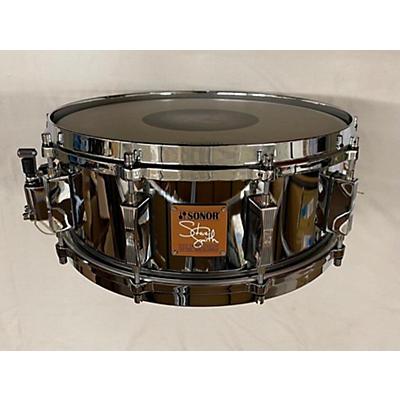 SONOR 2003 5.5X14 STEVE SMITH SIGNATURE CAST STEEL Drum