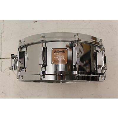 SONOR 2003 5.5X14 STEVE SMITH SIGNATURE CAST STEEL SNARE Drum