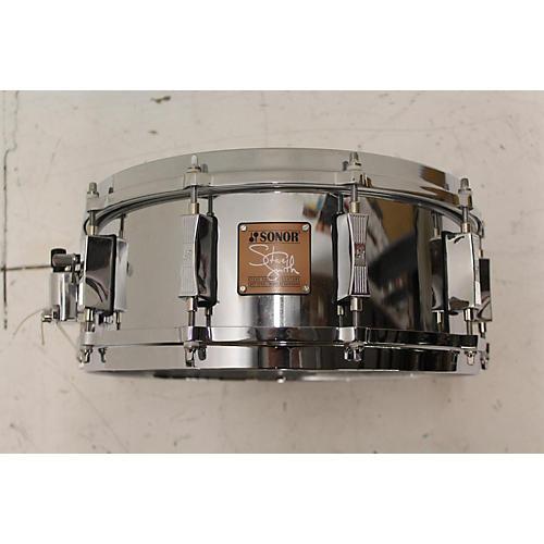 SONOR 2003 5.5X14 STEVE SMITH SIGNATURE CAST STEEL SNARE Drum CAST STEEL 10
