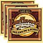 Ernie Ball 2003 Earthwood 80/20 Bronze Medium Light Acoustic Strings (3-Pack)